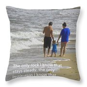 Stability Of Family Throw Pillow