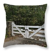 Stable Gate Throw Pillow