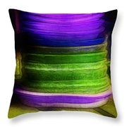 Stack Of Saucers Throw Pillow by Judi Bagwell