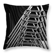 Stacks Of Chairs Throw Pillow
