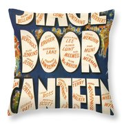 Stage Door Canteen Throw Pillow by Georgia Fowler