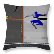 Stage Flight Throw Pillow by Naxart Studio