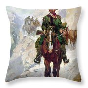 Stagecoach Travel, 1906 Throw Pillow