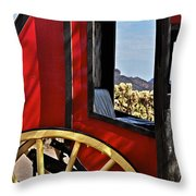 Stagecoach View Throw Pillow