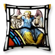 Stained Glass Angel Throw Pillow