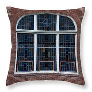 Stained Glass At St Paul Throw Pillow