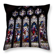 Stained Glass - Bath Abbey Throw Pillow