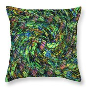 Stained Glass In Abstract Throw Pillow