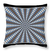 Stained Glass Kaleidoscope 32 Throw Pillow