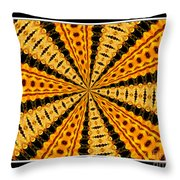 Stained Glass Kaleidoscope 37 Throw Pillow