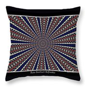 Stained Glass Kaleidoscope 49 Throw Pillow