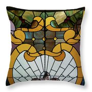 Stained Glass Lc 01 Throw Pillow