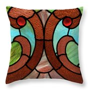 Stained Glass Lc 05 Throw Pillow