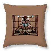 Stained Glass Lc 06 Throw Pillow