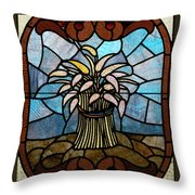 Stained Glass Lc 11 Throw Pillow