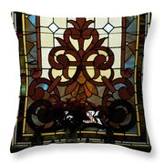 Stained Glass Lc 16 Throw Pillow