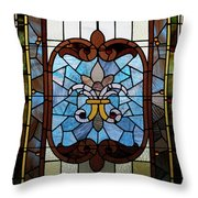 Stained Glass Lc 19 Throw Pillow by Thomas Woolworth