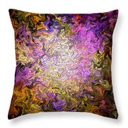 Stained Glass Mosaic Throw Pillow