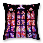 Stained Glass Window II Throw Pillow