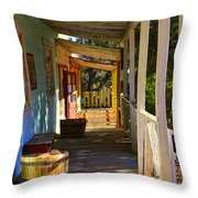 Stained Shadows Throw Pillow