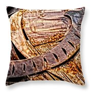Stainless And Rust Abstract Throw Pillow