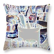 Stainless Steel  Throw Pillow