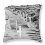 Stairs At Baker Beach Throw Pillow by Shane Kelly