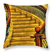 Stairs Hdr Processing Throw Pillow