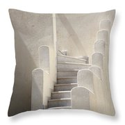 Stairs In Greece Throw Pillow