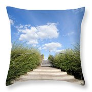 Stairs To The Big Blue Sky Throw Pillow