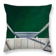 Stairs To The Water Throw Pillow