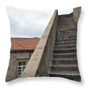 Stairway In Dubrovnik Throw Pillow by Madeline Ellis