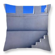 Stairway In Iao Greece Throw Pillow
