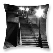 Stairway To Montmartre At Night Throw Pillow