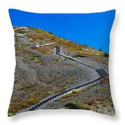 Stairwell To Windy Point  Throw Pillow