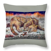 Stalked By Fate Throw Pillow