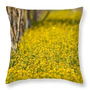 Stalks And Sunshine Throw Pillow