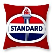 Standard Oil Sign Throw Pillow