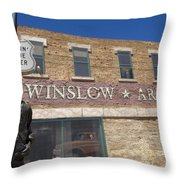 Standin On The Corner In Winslow Arizona Throw Pillow