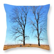Standing Alone Together Throw Pillow