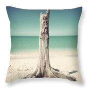 Standing Alone-vintage Throw Pillow