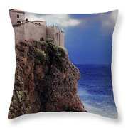 Standing At The Edge Of Time Throw Pillow