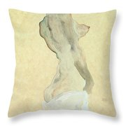 Standing Female Nude Throw Pillow