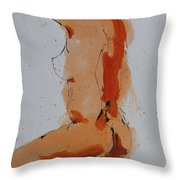 Standing Nude Throw Pillow