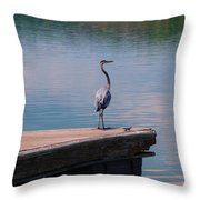 Standing On The Dock Throw Pillow