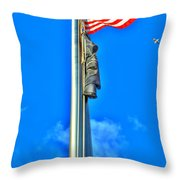 Standing Proud Soaring High Throw Pillow
