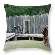 Standing Ready Throw Pillow