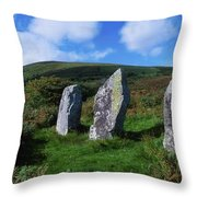 Standing Stone Alignment, Near Throw Pillow