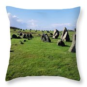 Standing Stones On A Landscape Throw Pillow