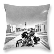 Standing Watch At The Houston National Cemetery Throw Pillow by David Morefield